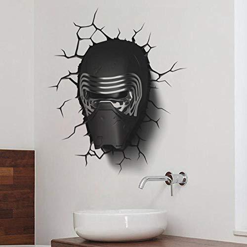 Muurstickers Cool Star Wars Masker 50x60cm 3D Muurstickers Vinyl Muurstickers, Muurschilderingen, Posters Familie Behang Slaapkamer Woonkamer Woonkamer Home Decoratie