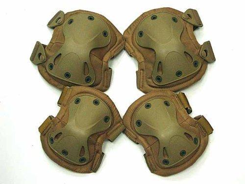 Airsoft SWAT X-Cap Airsoft Paintball Knee & Elbow Pads Desert Tan