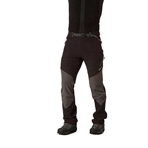 Izas Cade - Pantalón de montaña para Hombre, Color Negro/Gris Oscuro, Talla M