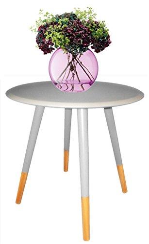 1530651 Tamia Home-Tavolino, colore: grigio, 48 x 48 x 116 cm, colore: grigio/legno