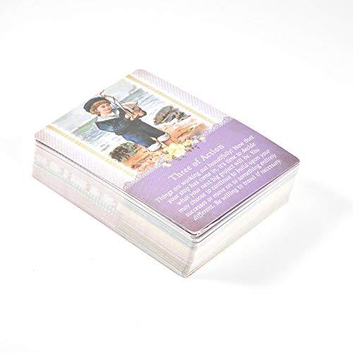 yestter 78 PCS Tarot-Karten, Blätter Schutzengel Tarot-Karten Spielbrett Tarot-Karte Mit Bunten Box Für Party Travel Mini Tarot-Karten Beginne Tragbar Und Einfach Zum Mitnehmen