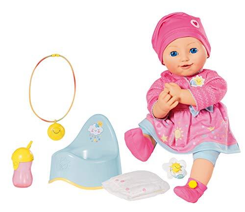 Zapf Creation 960202 Elli Smiles Puppe mit Funktion und Emotionen, 43 cm