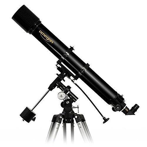 Omegon Telescopio AC 90/1000 EQ-2, telescopio rifrattore con Apertura 90 mm e Lunghezza focale 1000 mm