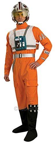 Star Wars Deluxe X Wing Fighter Pilot Komplettes Kostüm - Größe M-L