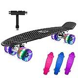 BELEEV Skateboard 22 Zoll Komplette Mini Cruiser Skateboard für...