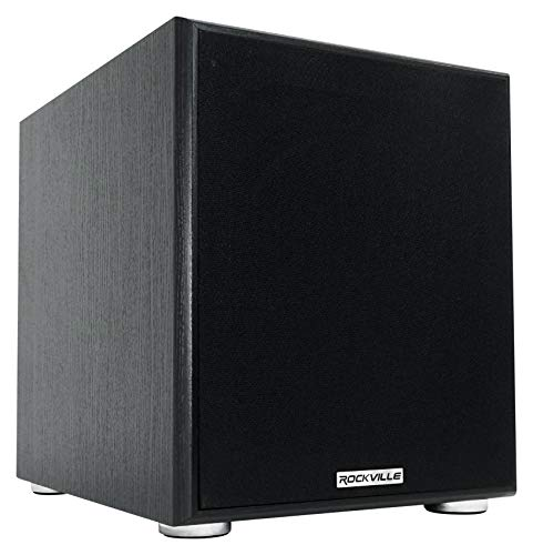 Rockville Rock Shaker 10' Inch Black 600w Powered Home Theater Subwoofer Sub