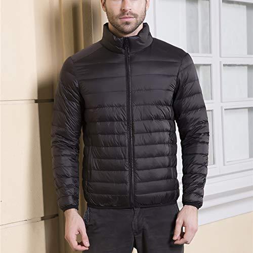 Warm Leicht Wasserdicht Packbar Puffer Stehkragen Winter Reißverschluss Daunenjacke Mantel Oberbekleidung für das Reisen Camping,H,M