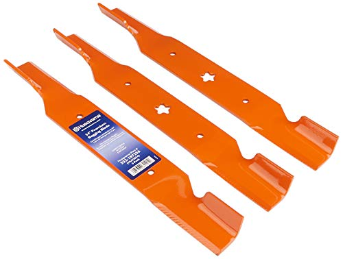 Husqvarna HU22054 54-Inch Premium Hi-Lift Bagging Blades, 3-Pack, Orange