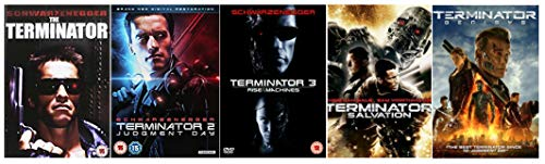 Terminator Pentalogy Complete 1-5 (5 Discs) DVD Collection: Terminator 1 / Terminator 2: Judgement Day / Terminator 3: Rise of the Machines / Terminator 4: Salvation / Terminator 5: Genisys + Extras