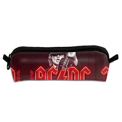 AC-DC Malcolm Mitchell Young Live at River Plate Orquesta Prog Estuche de lapicero de tela de maquillaje bolsa de cosméticos regalos para hombres, mujeres, adultos oficina