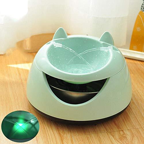 CWZDYSJ Huisdier automatische circulatie waterdispenser live water mute live lente stroom handig schoonmaken filter kat hond kom huisdieren Nordic groen nachtlampje (USB interface type)