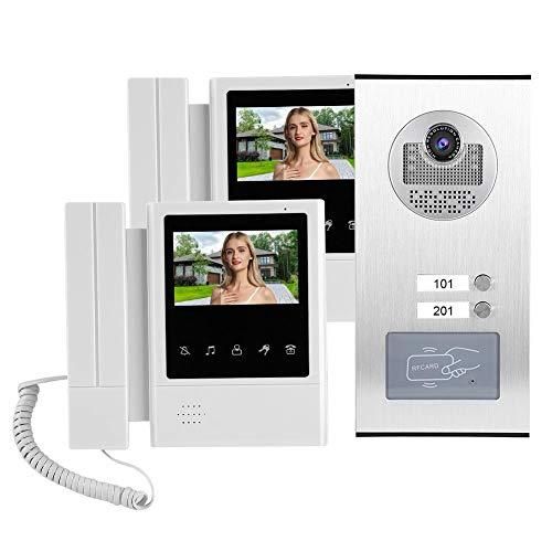 【𝐕𝐞𝐧𝐭𝐚 𝐑𝐞𝐠𝐚𝐥𝐨 𝐏𝐫𝐢𝐦𝐚𝒗𝐞𝐫𝐚】Cámara con Timbre de Video, Monitor LCD a Color de 4.3 Pulgadas, teléfono Inteligente con videoportero a Prueba(U.S. regulations)