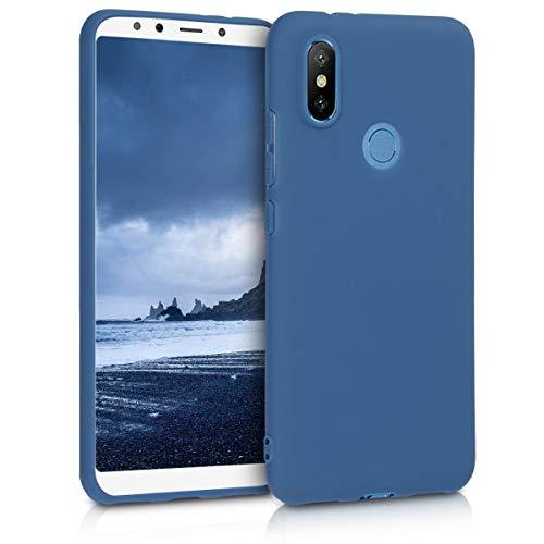 kwmobile Funda Compatible con Xiaomi Mi 6X / Mi A2 - Carcasa de TPU Silicona - Protector Trasero en Azul Marino