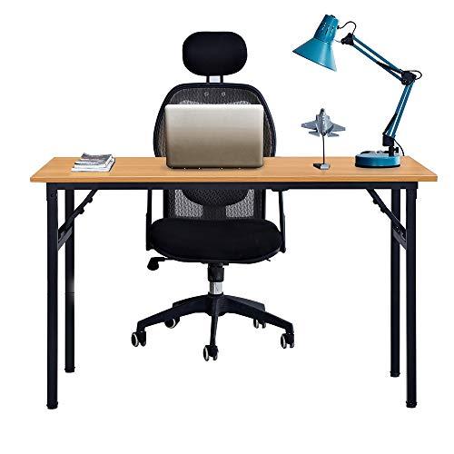 Need Schreibtisch Klapptisch Holzwerkstoffen Computertisch PC Tisch Bürotisch Arbeitstisch Esstisch für Zuhause, Büro, Picknick, Garten 120 * 60 cm,AC5BB