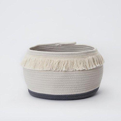 Xuan - Worth Another Tissu Blanc Coton Fil de rotin Panier de Rangement Sale vêtements Panier Sale vêtements Seau Finition boîte vêtements Panier (Taille : 20 * 20 * 16cm)