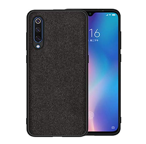 Kompatibel mit Xiaomi Mi 9 Hülle Xiaomi Mi9 SE Schutz Tasche Handyhülle Ultra Dünn Stoff aufrüsten Anti-Rutsch Anti-Fingerabdruck Hülle (Schwarz, Xiaomi MI9)