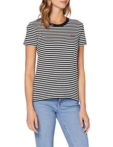 Levi's tee Camiseta, Raita Stripe Caviar, S para Mujer