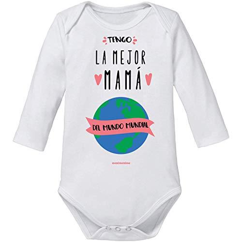 Body Bebé Mamá'Tengo La Mejor Mamá Del Mundo Mundial' (1 MES, MANGA CORTA)