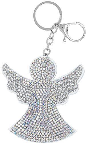 Schlüsselanhänger Engel mit Glitzer, Schutzengel, Taschenanhänger