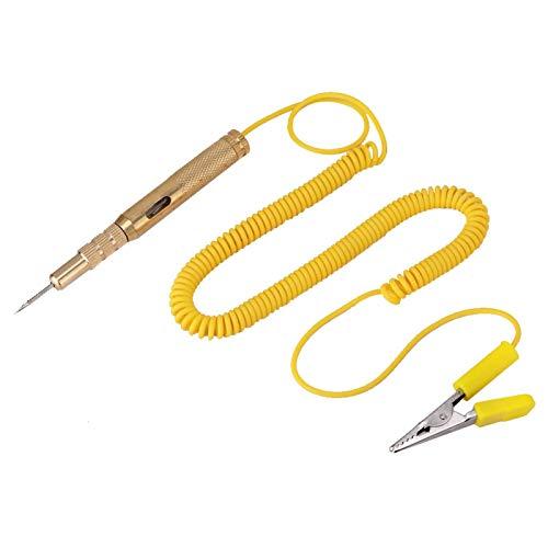 Viccilley Teststift - Auto-Fahrzeug-Schaltkreistester DC 6V 12V 24V Glühlampenspannungsprüfstift Bleistift Gelb
