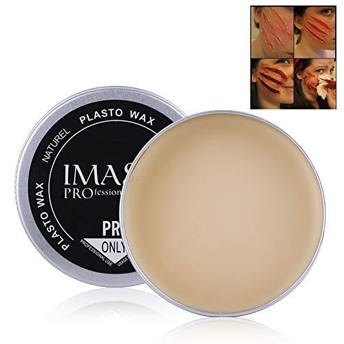 Fausse cire de cire, 5 types d'Halloween mascarade professionnel spécial effets de saignement de la cicatrice, couverture de réparation cicatrice de sourcils crème de cire de maquillage cosmétique(#5)