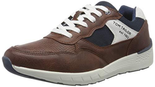 TOM TAILOR Herren 8082403 Sneaker, Braun (Cognac 00205), 43 EU
