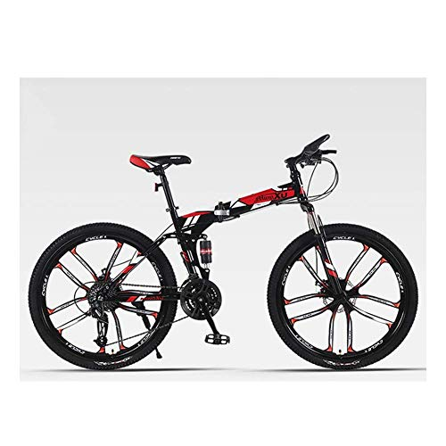 ShiSyan Y-LKUN Bicycle Bike Outdoor Sports Mountain Bike, City Bike, 27 Speed Change, Disc Brakes, Double Shock Absorbing Offroad Racing, City 21 Inch Frame Bike (Color : Red)