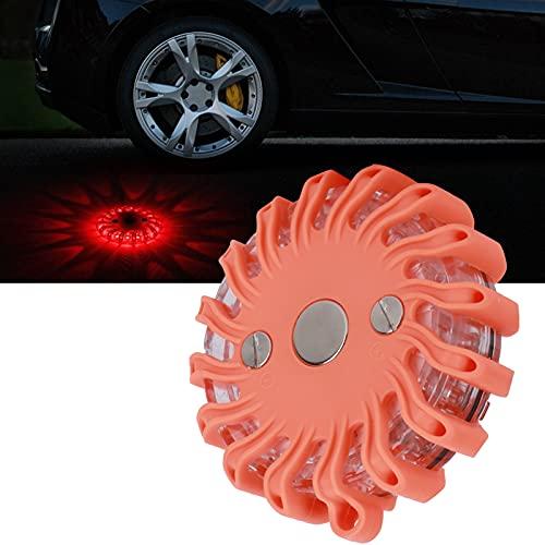 Fournyaa Luz de Advertencia, lámpara de Emergencia 16 LED para Mantenimiento de Equipos de Carretera para Advertencia de Falla de Carretera para reparación de Carreteras para rescates de Emergencia