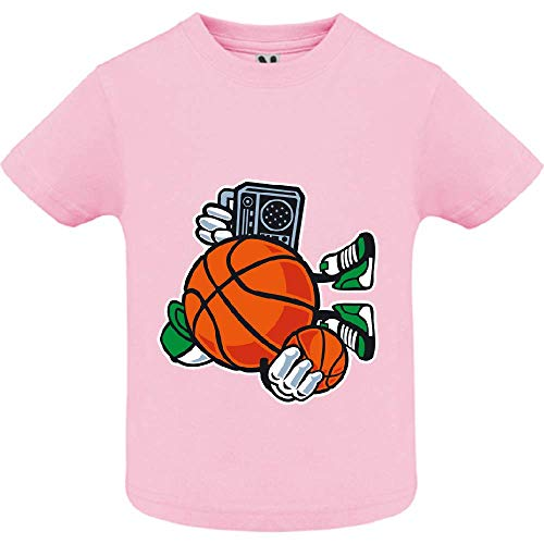 LookMyKase T-Shirt - Street Basketball - Bébé Fille - Rose - 6mois