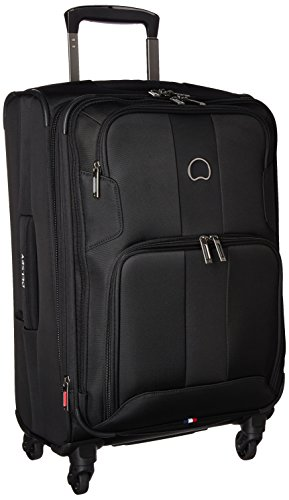 DELSEY Paris Sky Max 2.0 Softside Expandable Luggage with Spinner Wheels, Black, Carry-on 21 Inch