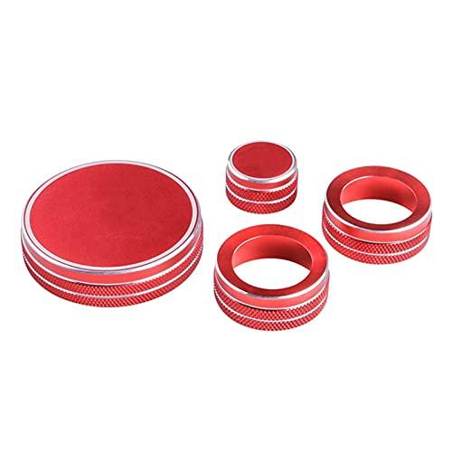 Pantaloni della tuta Fit Per Mazda CX-30 CX30 2021 2020 Accessori Multimedia Manopola Aria Condizionatore Anello Copertura Adesivo Modifica Interni Parti (Nome Colore: Rosso)