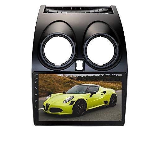 Autoradio Stereo con touch screen capacitivo da 9 pollici Sistema Android 10 Adatto per Nissan Qashqai (2006-2013), Supporta la navigazione GPS Bluetooth WiFi Connessione USB Controllo del volante EQ