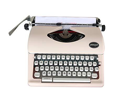 Máquina de escribir vintage, máquina de escribir mecánica, retro, adecuada para niños y ancianos (rosa)