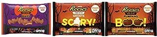 Reeses Peanut Butter Cup Halloween Bundle - 1 bag each of Ghosts, Bats and Pumpkins