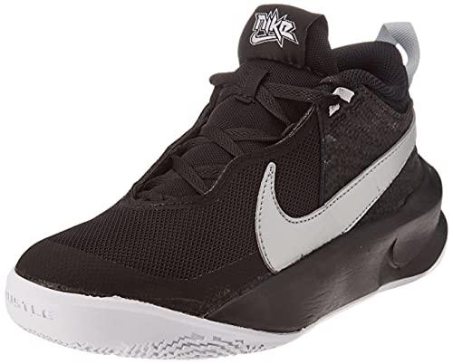 Nike Team Hustle D 10 GS, Zapatillas Deportivas, Black Mtlc Silver Volt White, 40 EU