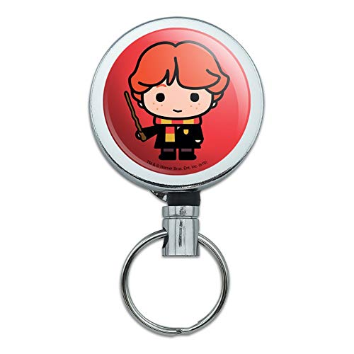 Harry Potter Ron Cute Chibi Character Heavy Duty Metal Retractable Reel ID Badge Key Card Tag Holder with Belt Clip