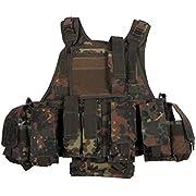 Assault Army Tactical Vest Ranger MOLLE Flecktarn Camo