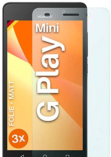 moex Schutzfolie matt kompatibel mit Huawei G Play Mini - Folie gegen Reflexionen, Anti Reflex Bildschirmschutz, Matte Bildschirmfolie - 3X Stück