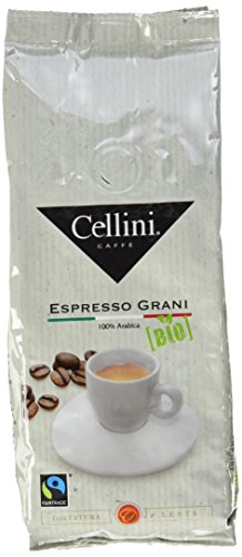 Cellini Bio Fairtrade Espresso Grani, ganze Bohne, 6er Pack (6 x 250 g)