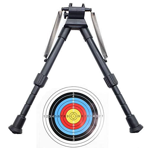 RimFly Bipode para Rifle Caza Pack Airsoft Fusil Francotirador Soporte con Rail 20mm Ajustable Accesories Apuntar Carabina Bloqueo Pistola Tactico Horquillas Regulable Tiro con 1 Diana
