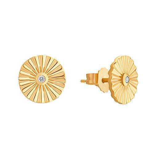 s.Oliver Sunray - Pendientes para mujer, plata de ley 925 bañada en oro