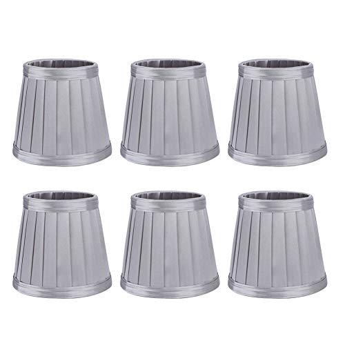zhuolong Cubierta de lámpara, 6 Piezas de Tela de Tela para Dormitorio Pantalla de lámpara Pantalla de Cubierta de lámpara para lámpara de Pared de araña E14