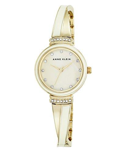 Anne Klein Damen Analog Quarz Uhr mit Edelstahl Armband AK/N2216IVGB