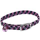 Coastal Pet Products CCP7721NPK Li'l Pals Elasticized Reflective Adjustable Kitten Safety Collar with Bells, Neon Pink