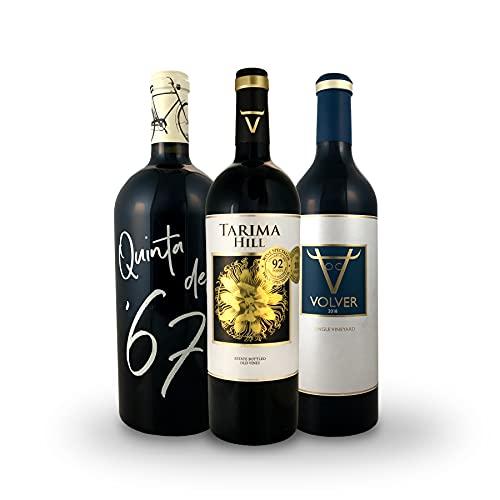 BODEGAS Y VIÑEDOS VOLVER | Pack de 3 Botellas | Vino Tinto Tarima Hill | Quinta del 67 | Volver Tempranillo | D.O. Alicante | Vino de Almansa | Vino de la Mancha | (3 Botellas x 750 ml) |
