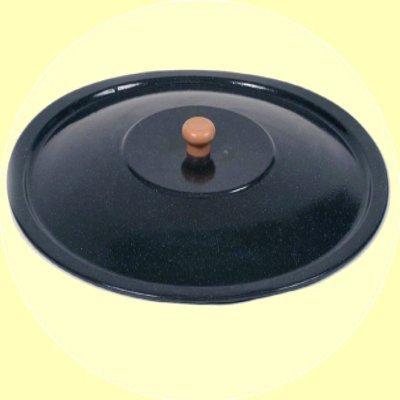 Deckel für Gulaschkessel Emaille Topfdeckel Emailledeckel 10 Liter 34 cm