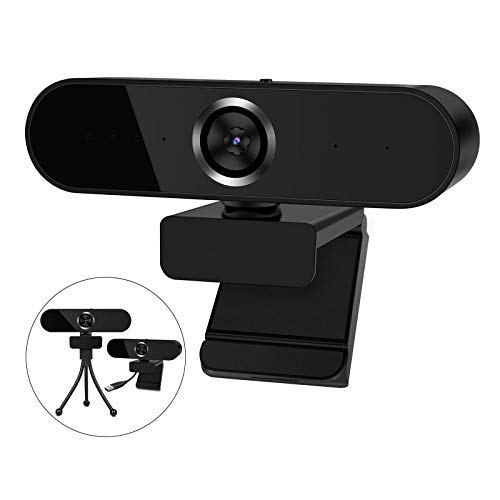 Webcam HD 1080p Web Camera, USB PC Computer Webcam with Microphone, Laptop Desktop Full HD Camera Video Webcam with Tripod, Built-in Mic Pro Streaming Webcam for Calling, Conferencing, Gaming