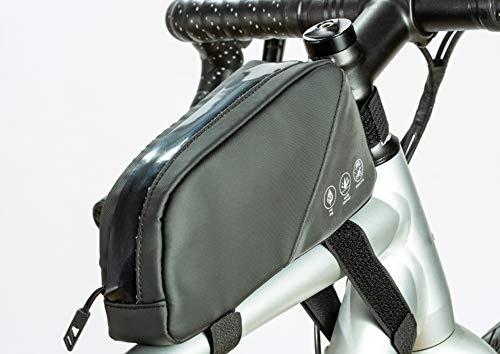 UBORSE Borsa da Telaio per Bicicletta Riflettente Bifacciale, Borsa Tubo Anteriore Impermeabile per Bici MTB, 0.8L