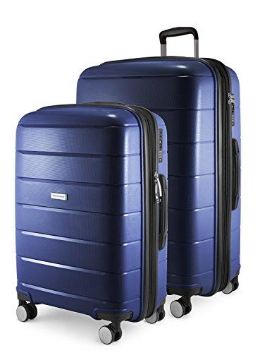 HAUPTSTADTKOFFER - PRNZLBRG - 2er Kofferset Trolley-Set Rollkoffer mittelgroßer Koffer und großer Reisekoffer (66/77 cm), Polypropylen-Hartschale TSA, 4...