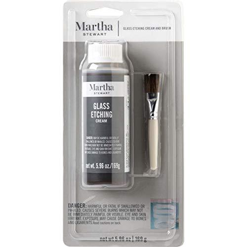 Martha Stewart Crafts Glass Etch Cream with Brush (5.96 -Ounce),